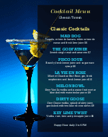 Cocktails Wall Menu