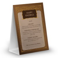 Chocolate Table Tent Menu