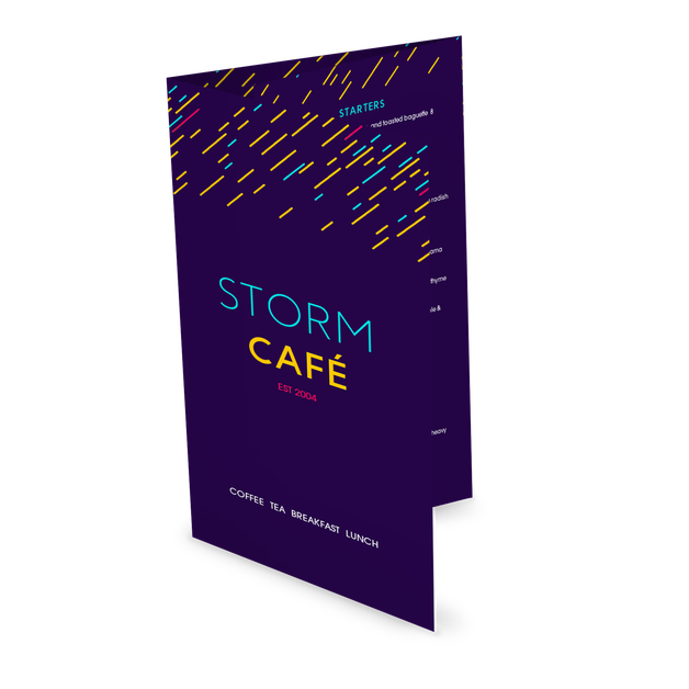 Customize Colorful Cafe Folded Menu