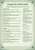 A4 Corner Pub Irish Menu
