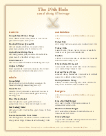 Country Club Grill Menu