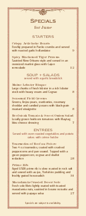 Customize Country Style Specials Menu