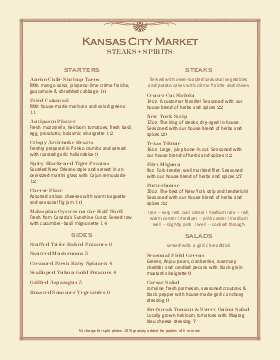 Country Style Restaurant Menu