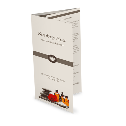 View Day Spa Trifold Menu