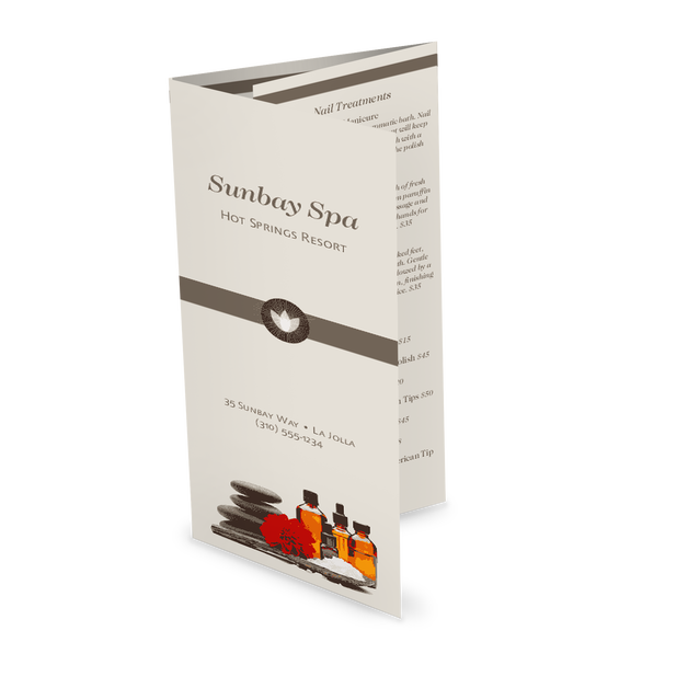 Day Spa Trifold Menu Design Templates By Musthavemenus