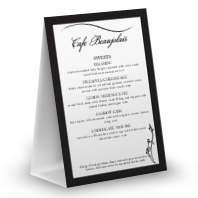 Dinner Table Tent Menu