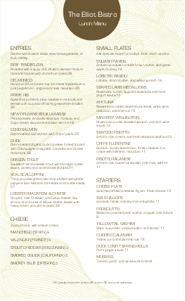 View Downtown Hotel Menu