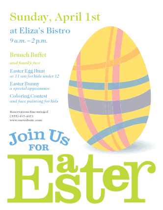 gorgeous easter flyer template designs musthavemenus