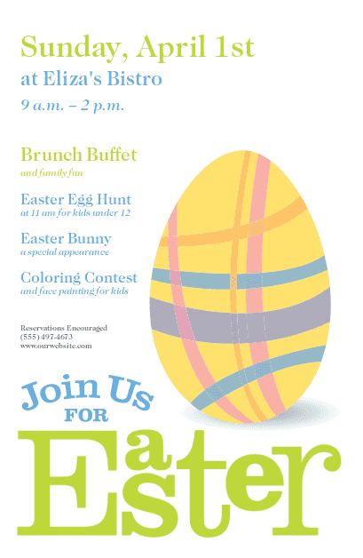 Easter Flyer, Easter Flyer Designs, Easter Flier - MustHaveMenus