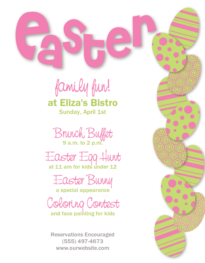 Gorgeous Easter Flyer Template Designs - MustHaveMenus