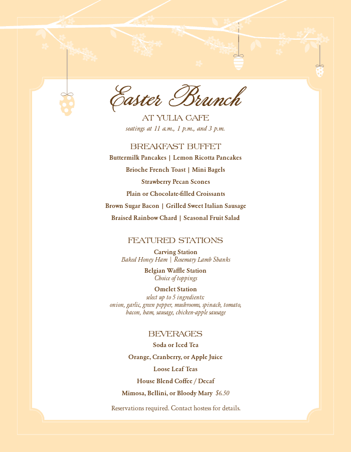 Customize 108+ easter menus, restaurant menu templates and menu.