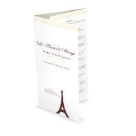 Eiffel Tower Trifold Menu
