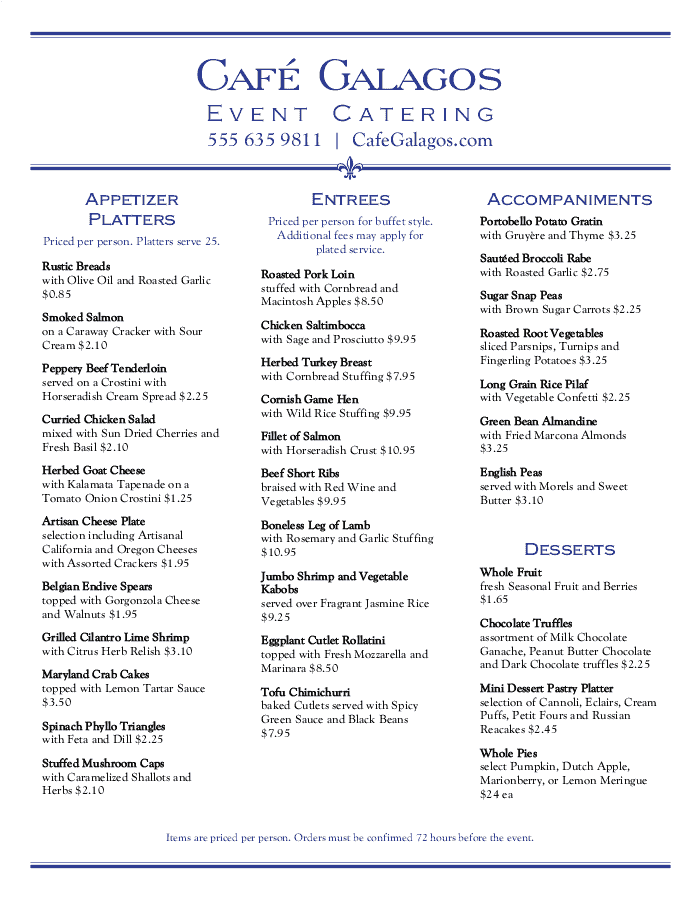 Catering Menu Templates That Are Easy To Customize Musthavemenus