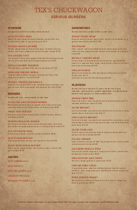Customize Family Burgers Large Menu