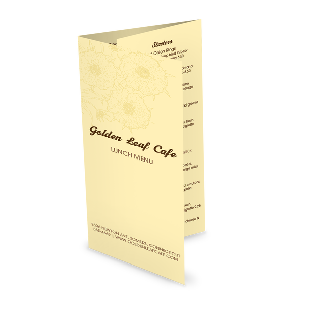Customize Family Cafe Takeout Menu