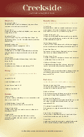 Family Restaurants Menu Long