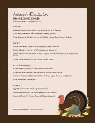 Customize Family Thanksgiving Menu