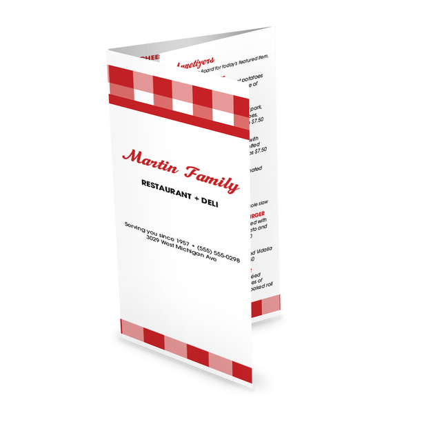 Customize Fast Deli Takeout Menu