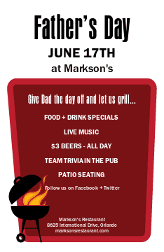 Fathers Day BBQ Flyer