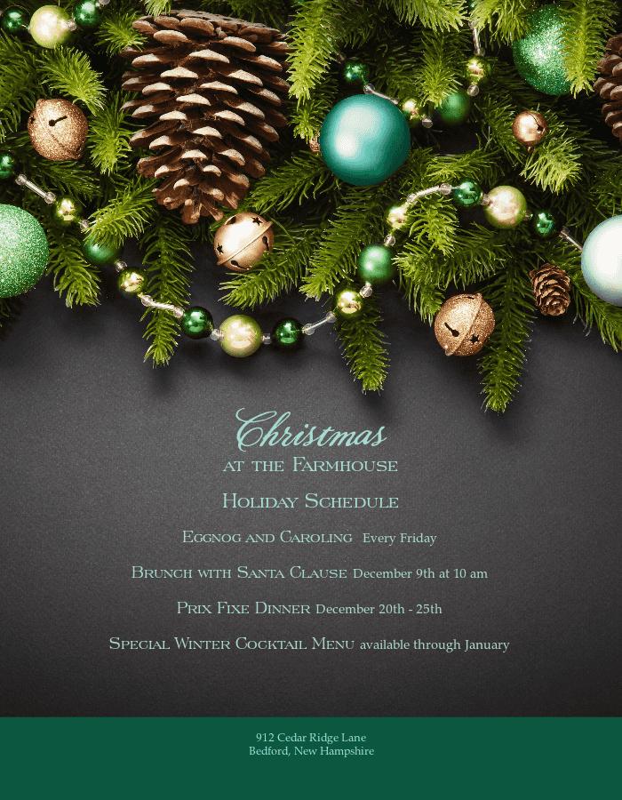 Beautiful christmas flyer templates musthavemenus festive holiday flyer maxwellsz