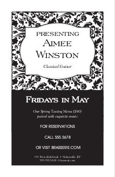 Fine Restaurant Event Flyer