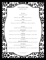 Fine Restaurant Cocktail Menu