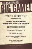 Football Game Flyer