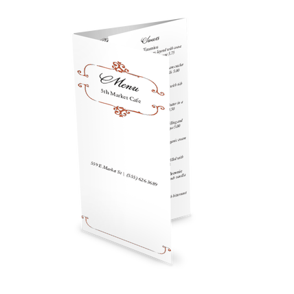 French Style Takeout Menu Design Templates By Musthavemenus