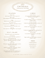 French Fine Dining Menu