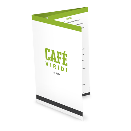 View Fresh Cafe Folded Menu
