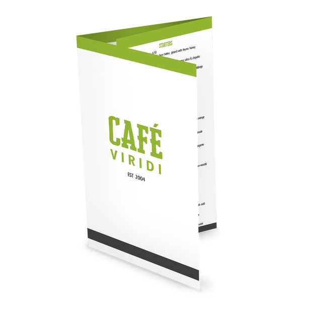 Customize Fresh Cafe Folded Menu
