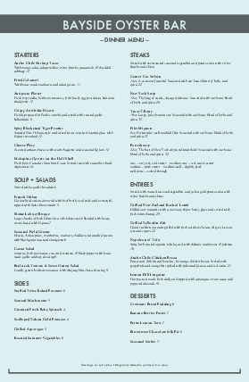 Customize Tabloid Fresh Seafood Menu