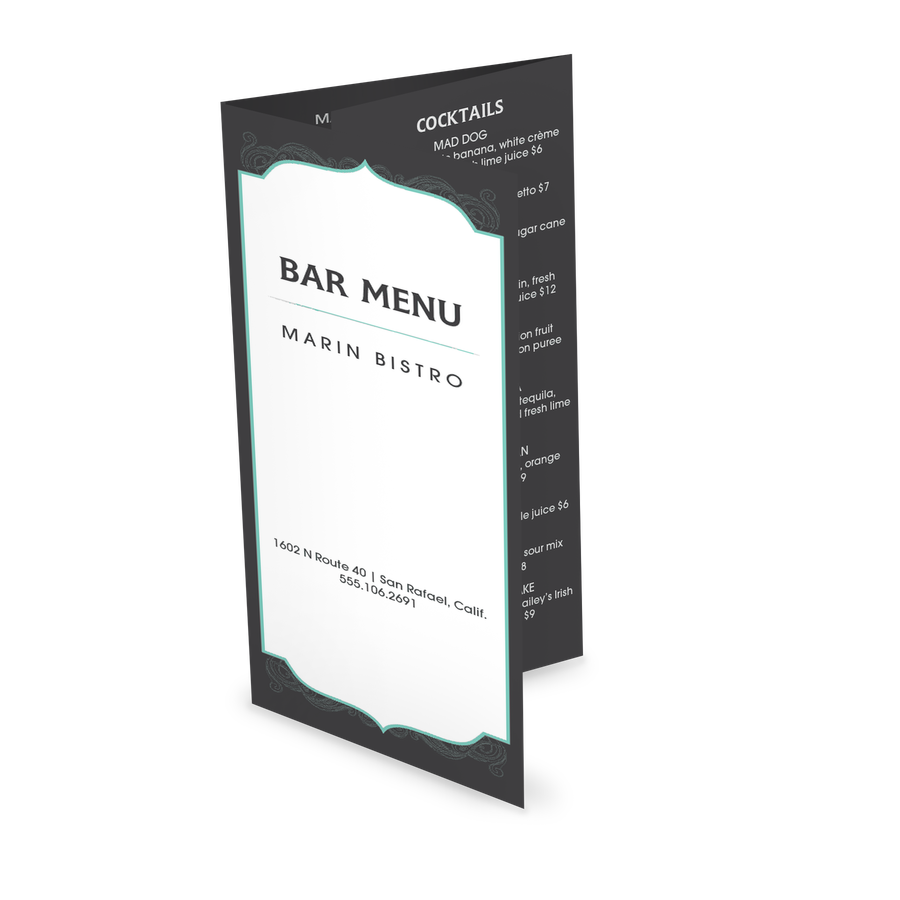 cocktail trifold menu design templates by musthavemenus