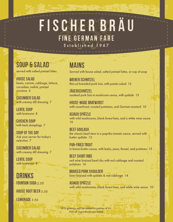 restaurant menu templates with designer style musthavemenus
