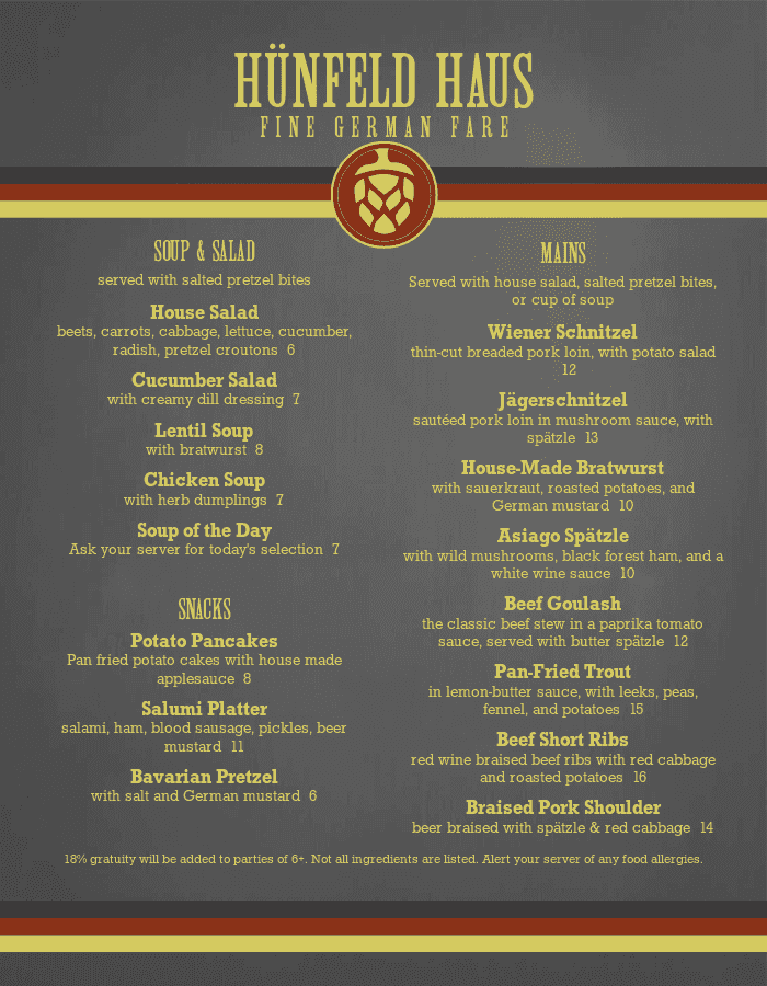 Restaurant Menu Templates with Designer Style - MustHaveMenus