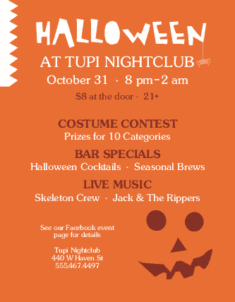 View Halloween Bar Flyer