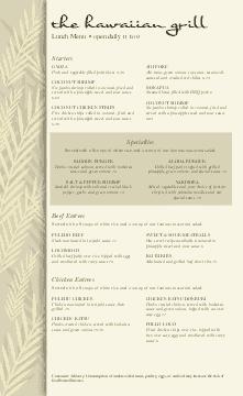 Hawaiian Food Menu
