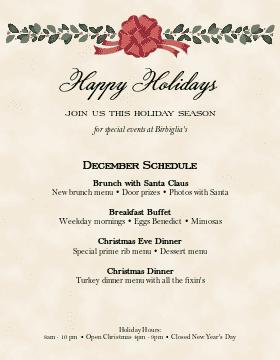 Holiday Dinner Flyer