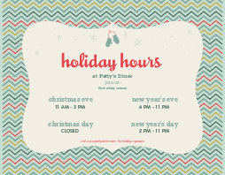 Holiday Hours Flyer
