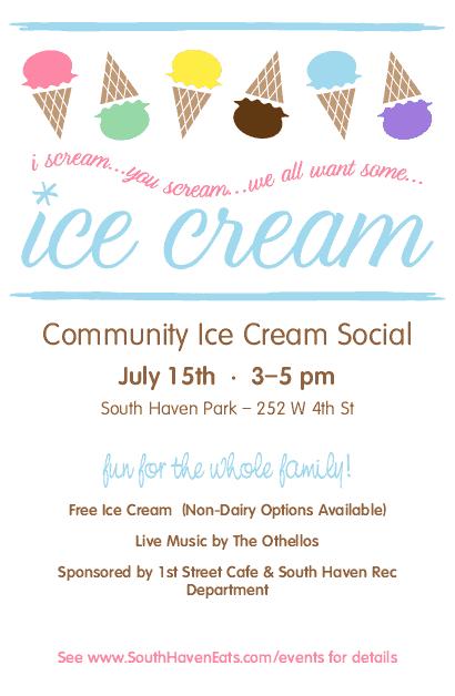 Ice Cream Social Flyer   Summer Flyers