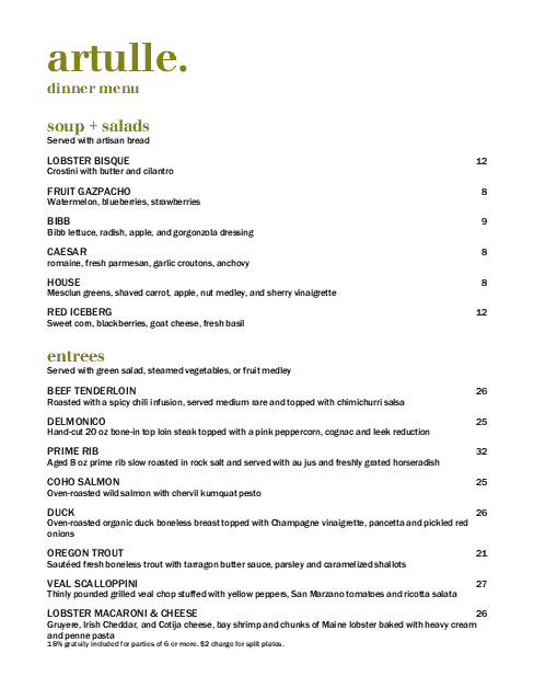 Customize Italian Cafe Menu