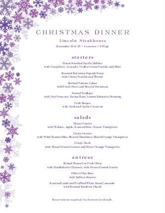 Customize Italian Christmas Menu