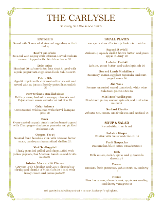 fine dining menu template free - italian fine dining menu simple menus