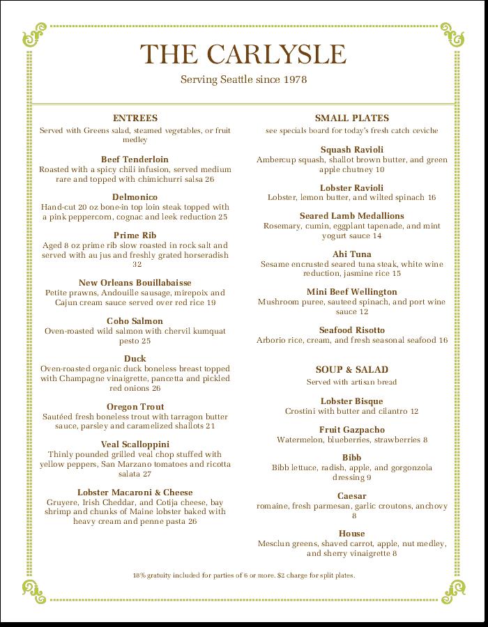 simple menu templates for online menu design musthavemenus