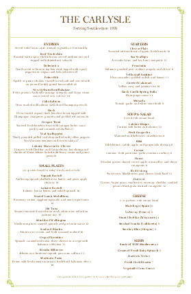 Customize Italian Fine Dining Menu Tabloid