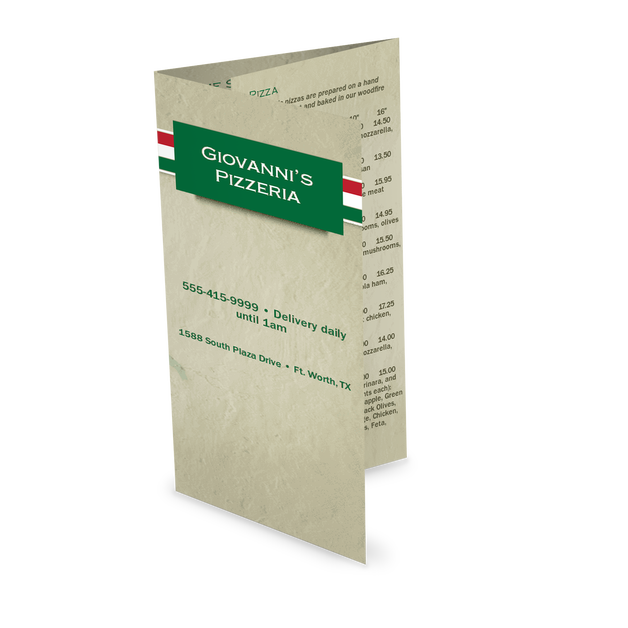 Customize Italian Pizza Takeout Menu