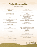 Vineyard Menu