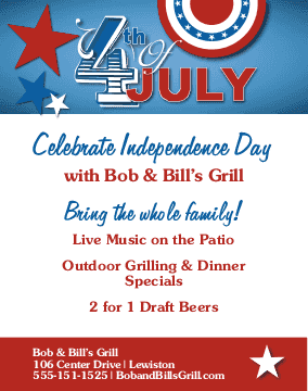 4th Of July Flyers Musthavemenus