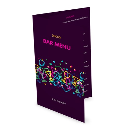 View Late Night Bar Folded Menu