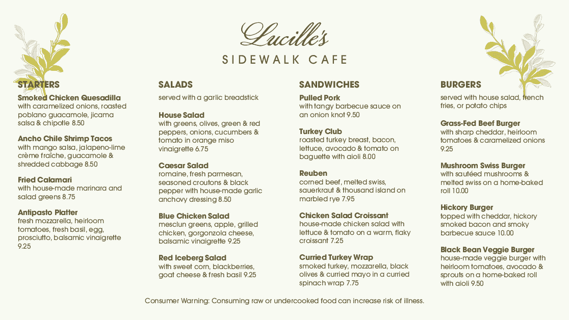 Customize Leafy Cafe Menu Board